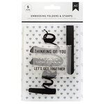 American Crafts - Embossing Folders and Clear Acrylic Stamp Sets - Hello You