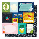 American Crafts - Field Trip Collection - 12 x 12 Double Sided Paper - Choose Adventure
