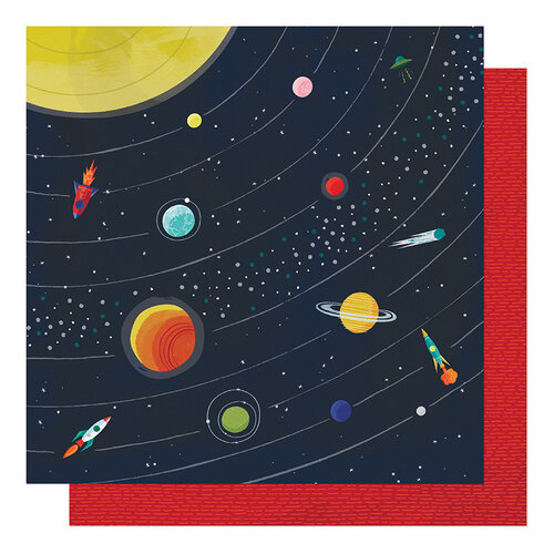 American Crafts - Field Trip Collection - 12 x 12 Double Sided Paper- Far Far Away