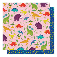 American Crafts - Field Trip Collection - 12 x 12 Double Sided Paper - Long Long Ago
