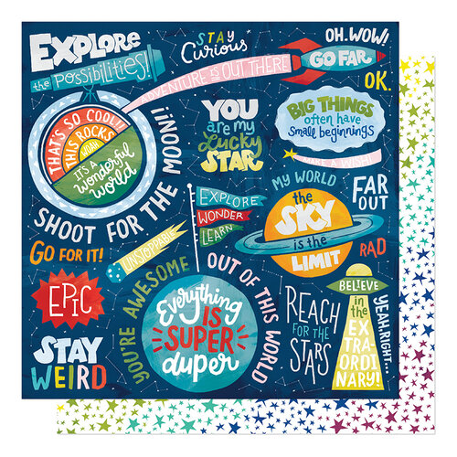 American Crafts - Field Trip Collection - 12 x 12 Double Sided Paper - Stay Curious