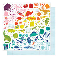 American Crafts - Field Trip Collection - 12 x 12 Double Sided Paper - Between Classes