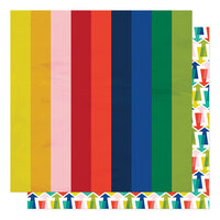 American Crafts - Field Trip Collection - 12 x 12 Double Sided Paper - Going Up