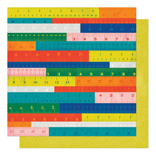 American Crafts - Field Trip Collection - 12 x 12 Double Sided Paper - Measure Up