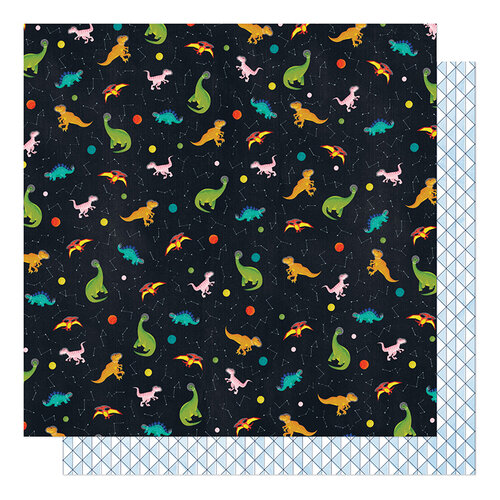 American Crafts - Field Trip Collection - 12 x 12 Double Sided Paper - Jurassic Times