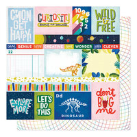 American Crafts - Field Trip Collection - 12 x 12 Double Sided Paper - Hear Me Roar
