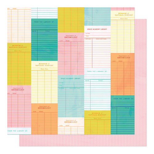 American Crafts - Field Trip Collection - 12 x 12 Double Sided Paper - Check It