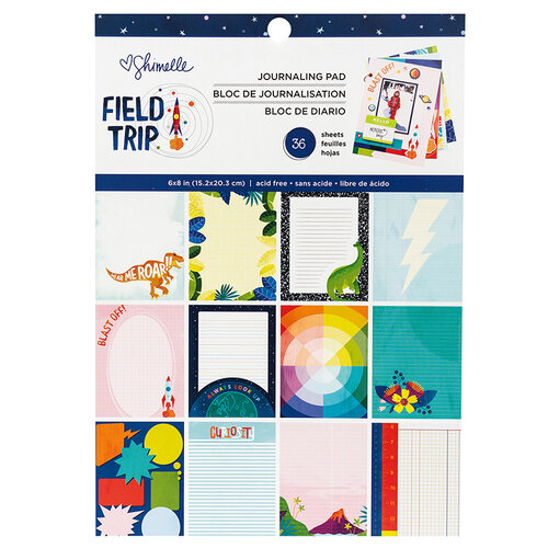 American Crafts - Field Trip Collection - 6 x 8 Journaling Paper Pad