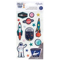 American Crafts - Field Trip Collection - Embossed Puffy Stickers