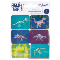 American Crafts - Field Trip Collection - Stickers - Lenticular Dinosaur