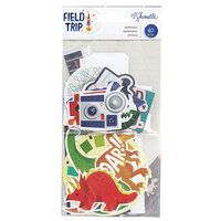 American Crafts - Field Trip Collection - Ephemera Pack with Matte Silver Foil Accents