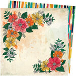 American Crafts - Wildflower and Honey Collection - 12 x 12 Double Sided Paper - Blossom
