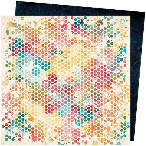 American Crafts - Wildflower and Honey Collection - 12 x 12 Double Sided Paper - Queen Bee