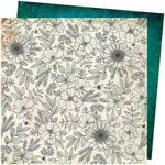 American Crafts - Wildflower and Honey Collection - 12 x 12 Double Sided Paper - Full Bloom