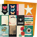 American Crafts - Wildflower and Honey Collection - 12 x 12 Double Sided Paper - Mingle