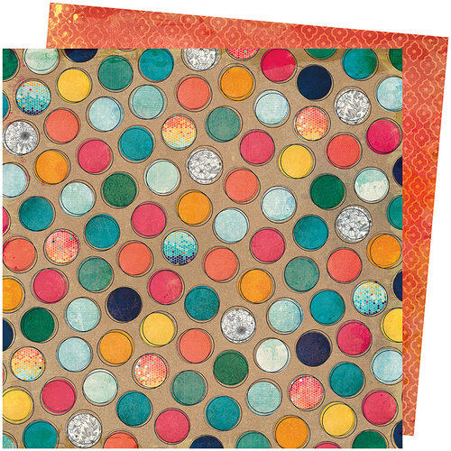 American Crafts - Wildflower and Honey Collection - 12 x 12 Double Sided Paper - Create a Buzz