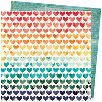 American Crafts - Wildflower and Honey Collection - 12 x 12 Double Sided Paper - Field of Dreams