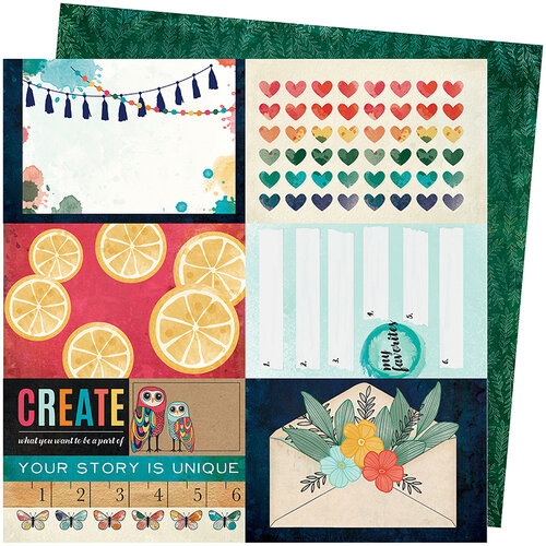 American Crafts - Wildflower and Honey Collection - 12 x 12 Double Sided Paper - Hey Honey
