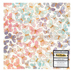 American Crafts - Wildflower and Honey Collection - 12 x 12 Specialty Paper - Vellum with Gold Holographic Foil Accents