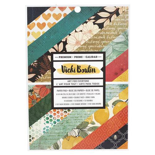 American Crafts - Wildflower and Honey Collection - 6 x 8 Paper Pad
