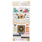 American Crafts - Wildflower and Honey Collection - Thickers - Holographic Gold Foil