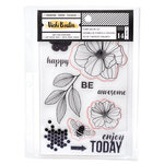 American Crafts - Wildflower and Honey Collection - Stamps and Die Set - Floral
