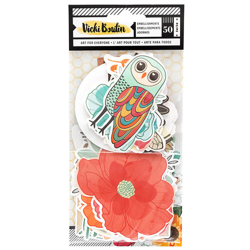 American Crafts - Wildflower and Honey Collection - Ephemera Pack - Icons