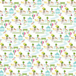 American Crafts - City Park Collection - 12 x 12 Double Sided Paper - Discovery Park, CLEARANCE