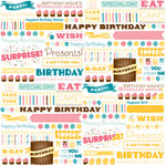 American Crafts - Confetti Collection - 12 x 12 Double Sided Paper - Peanut Butter Benny