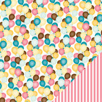 American Crafts - Confetti Collection - 12 x 12 Double Sided Paper - Archie Angel Food