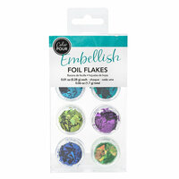 American Crafts - Color Pour Collection - Foil Flakes - Cool