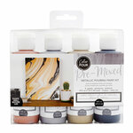 American Crafts - Color Pour Collection - Pre-Mixed Pouring Paint Kit - Metallic - Meteor Shower