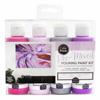 American Crafts - Color Pour Collection - Pre-Mixed Pouring Paint Kit - Mulberry Bliss