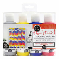 American Crafts - Color Pour Collection - Pre-Mixed Pouring Paint Kit - Classic Color