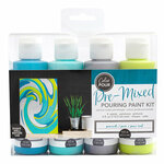 American Crafts - Color Pour Collection - Pre-Mixed Pouring Paint Kit - Peacock