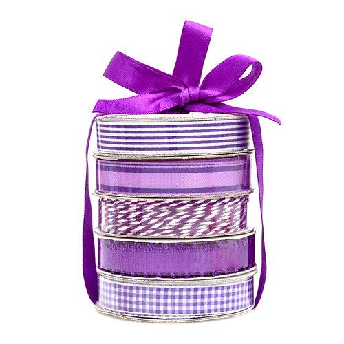 American Crafts - Premium Ribbon Spool - Purple - 5 Piece