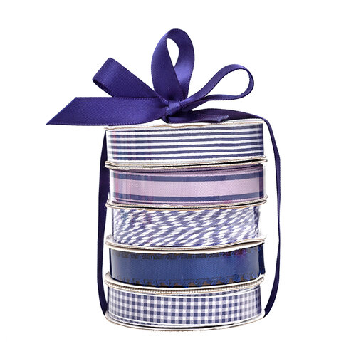 American Crafts - Premium Ribbon Spool - Navy - 5 Piece