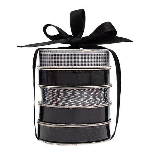 American Crafts - Premium Ribbon Spool - Black - 5 Piece