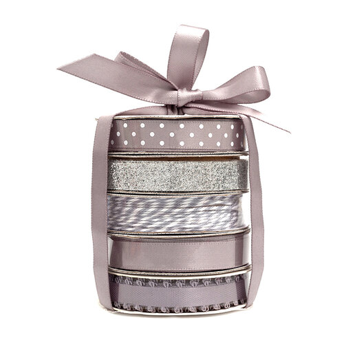 American Crafts - Premium Ribbon Spool - Silver - 5 Piece