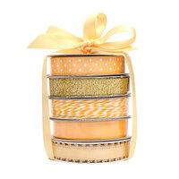 American Crafts - Premium Ribbon Spool - Gold - 5 Piece