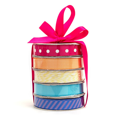 American Crafts - Premium Ribbon Spool - Rainbow - 5 Piece