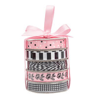 American Crafts - Premium Ribbon Spool - Classy Pink - 5 Piece