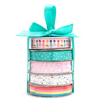 American Crafts - Premium Ribbon Spool - Birthday - 5 Piece