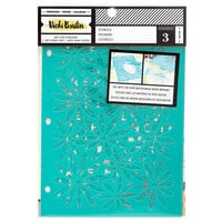 American Crafts - Wildflower and Honey Collection - 8.5 x 6 Stencil Set - Icons - 3 Pack