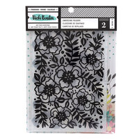 American Crafts - Let's Wander Collection - 8.5 x 6 Embossing Folder Set