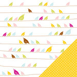American Crafts - Hello Sunshine Collection - 12 x 12 Double Sided Paper - Zippy