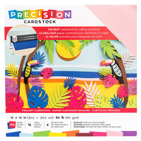 American Crafts - 12 x 12 Precision Cardstock Pack - 60 Sheets - Textured - Primary