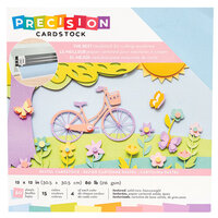 American Crafts - 12 x 12 Precision Cardstock Pack - 60 Sheets - Textured - Pastel