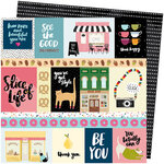 American Crafts - Slice Of Life Collection - 12 x 12 Double Sided Paper - We Click