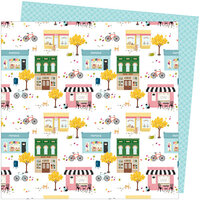 American Crafts - Slice Of Life Collection - 12 x 12 Double Sided Paper - My Town